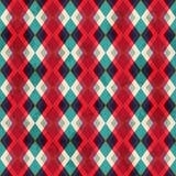 Modèle sans couture de losange rouge avec l'effet grunge Photo stock