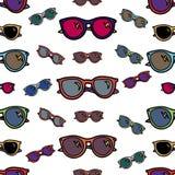 Modèle sans couture de lunettes de soleil illustration de vecteur