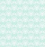 Modèle sans couture de luxe blanc complexe sur le fond bleu illustration stock