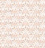 Modèle sans couture de luxe blanc complexe sur le fond rose illustration de vecteur