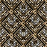 Modèle sans couture de méandre géométrique avec les ornements principaux grecs Images libres de droits