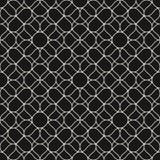 Modèle sans couture de maille de vecteur avec les lignes onduleuses tressées minces Conception fine de répétition pour le décor,  illustration de vecteur