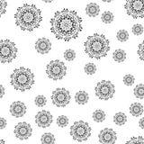 Modèle sans couture de mandala sur le fond blanc illustration stock