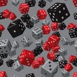 Modèle sans couture de matrices noires grises rouges Images stock