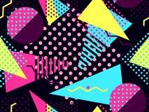 Modèle sans couture de Memphis Éléments géométriques Memphis dans le style 80 du ` s Bauhaus rétro Vecteur Photos stock