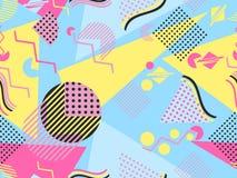 Modèle sans couture de Memphis Éléments géométriques Memphis dans le style de 80& x27 ; s Photo libre de droits