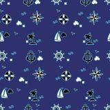 Modèle sans couture de mer Photographie stock libre de droits