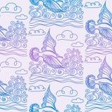 Modèle sans couture de mer d'été Photos libres de droits