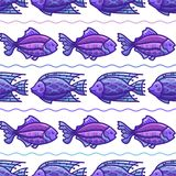 Modèle sans couture de mer profonde de vecteur Photos stock