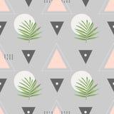 Modèle sans couture de mode de vecteur Fond géométrique élégant avec des palmettes images stock