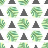 Modèle sans couture de mode de vecteur Fond géométrique élégant avec des palmettes photo libre de droits