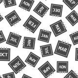 Modèle sans couture de mois civil sur un fond blanc illustration libre de droits