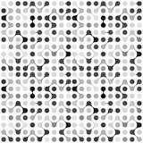 Modèle sans couture de molécules multicolores plates Images stock