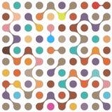Modèle sans couture de molécules multicolores plates Photos libres de droits