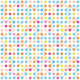 Modèle sans couture de molécules multicolores plates Photos stock
