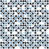 Modèle sans couture de molécules multicolores plates Photo libre de droits