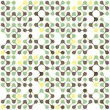 Modèle sans couture de molécules multicolores plates Image stock
