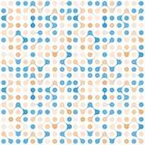 Modèle sans couture de molécules multicolores plates Photographie stock