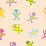 Modèle sans couture de monstres colorés mignons Photo libre de droits