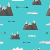 Modèle sans couture de montagnes Image stock