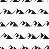 Modèle sans couture de montagnes Vecteur de tourisme, échantillons de modèle Images libres de droits