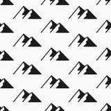 Modèle sans couture de montagnes Vecteur de tourisme, échantillons de modèle Photographie stock