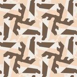 Modèle sans couture de mosaïque abstraite de la géométrie Image stock