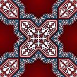Modèle sans couture de mosaïque florale arabe illustration de vecteur