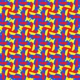 Modèle sans couture de mosaïque de la géométrie abstraite de tessellation Photos stock