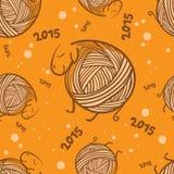 Modèle sans couture de moutons drôles de la nouvelle année 2015 Illustration Stock