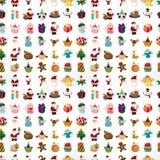Modèle sans couture de Noël Photos stock