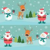 Modèle sans couture de Noël avec des pingouins et des boîtes , illustration libre de droits