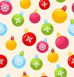 Modèle sans couture de Noël avec la boule de Noël illustration libre de droits