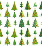 Modèle sans couture de Noël avec les arbres et les décorations bleus chariot illustration libre de droits
