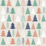 Modèle sans couture de Noël avec les sapins colorés Photo stock