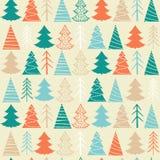 Modèle sans couture de Noël avec les sapins colorés Photographie stock