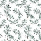 Modèle sans couture de Noël d'aquarelle photos stock