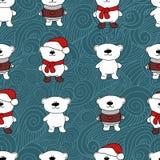 Modèle sans couture de Noël d'ours Image stock