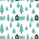 Modèle sans couture de Noël dans le vecteur Illustration de saison d'hiver illustration de vecteur