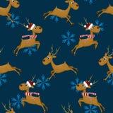 Modèle sans couture de Noël de nouvelle année Image libre de droits