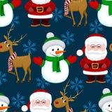 Modèle sans couture de Noël de nouvelle année Photo libre de droits