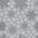 Modèle sans couture de Noël des flocons de neige Images libres de droits