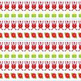 Modèle sans couture de Noël mignon Fond de vacances avec le poinset Photos libres de droits