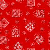 Modèle sans couture de nouvelle année et de Noël, cadeaux dans le style o de zenart illustration de vecteur