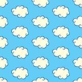 Modèle sans couture de nuages Image libre de droits