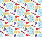 Modèle sans couture de pâque Fond sans fin de Pesach, texture Contexte juif de vacances Illustration de vecteur illustration de vecteur