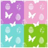 Modèle sans couture de Pâques avec des oeufs et des papillons illustration libre de droits