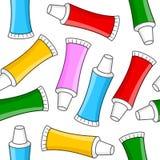 Modèle sans couture de pâte dentifrice colorée Photos libres de droits