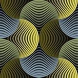 Modèle sans couture de pétales de vecteur géométrique fleuri de grille Image libre de droits