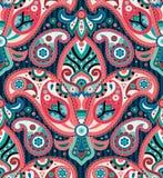 Modèle sans couture de Paisley illustration stock